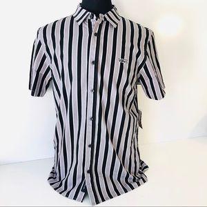 Vans Men's Bard Stripe Button Down Skate Shirt Med